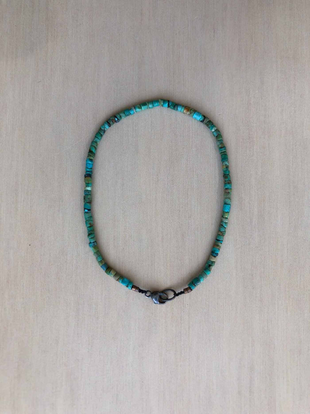 Rough Turquoise Beaded Bracelet