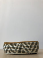 Bread Basket in Olive and Ivory