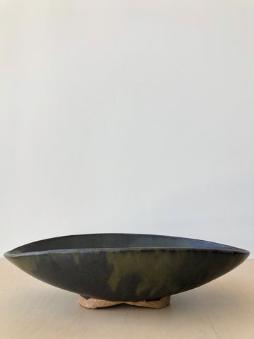 Large Abstract Centerpiece in Olive and Brown
