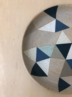 Triangle Platter in Soft Grey and Blue