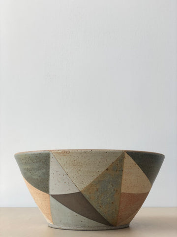 Tall Boy Triangle Bowl in Muted Pastels