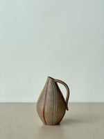 Vintage Tonal Ceramic Vase with Stripes