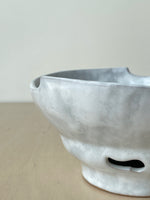 Vintage Studio Ceramic Pedestal Bowl with Cutouts