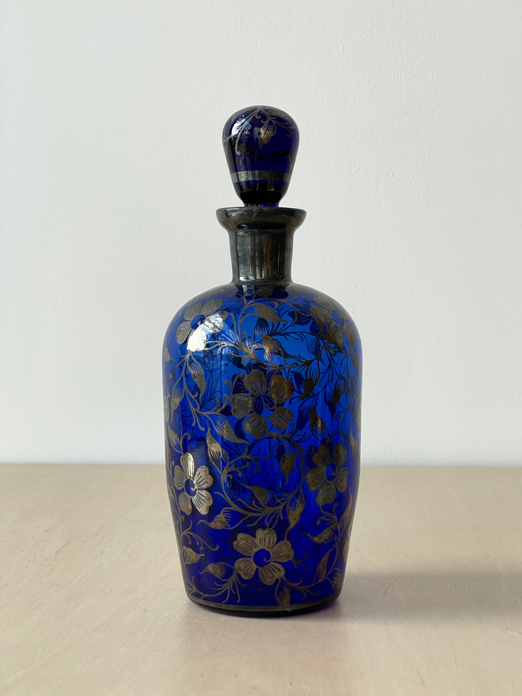 Antique Blue Glass Decanter