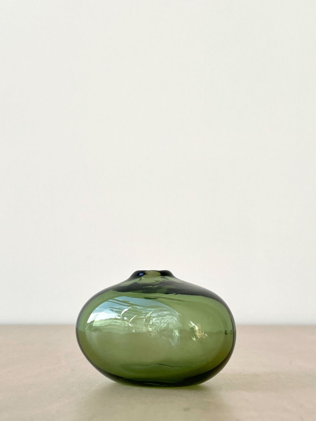 Riverstone Glass Bud Vase in Forest Green