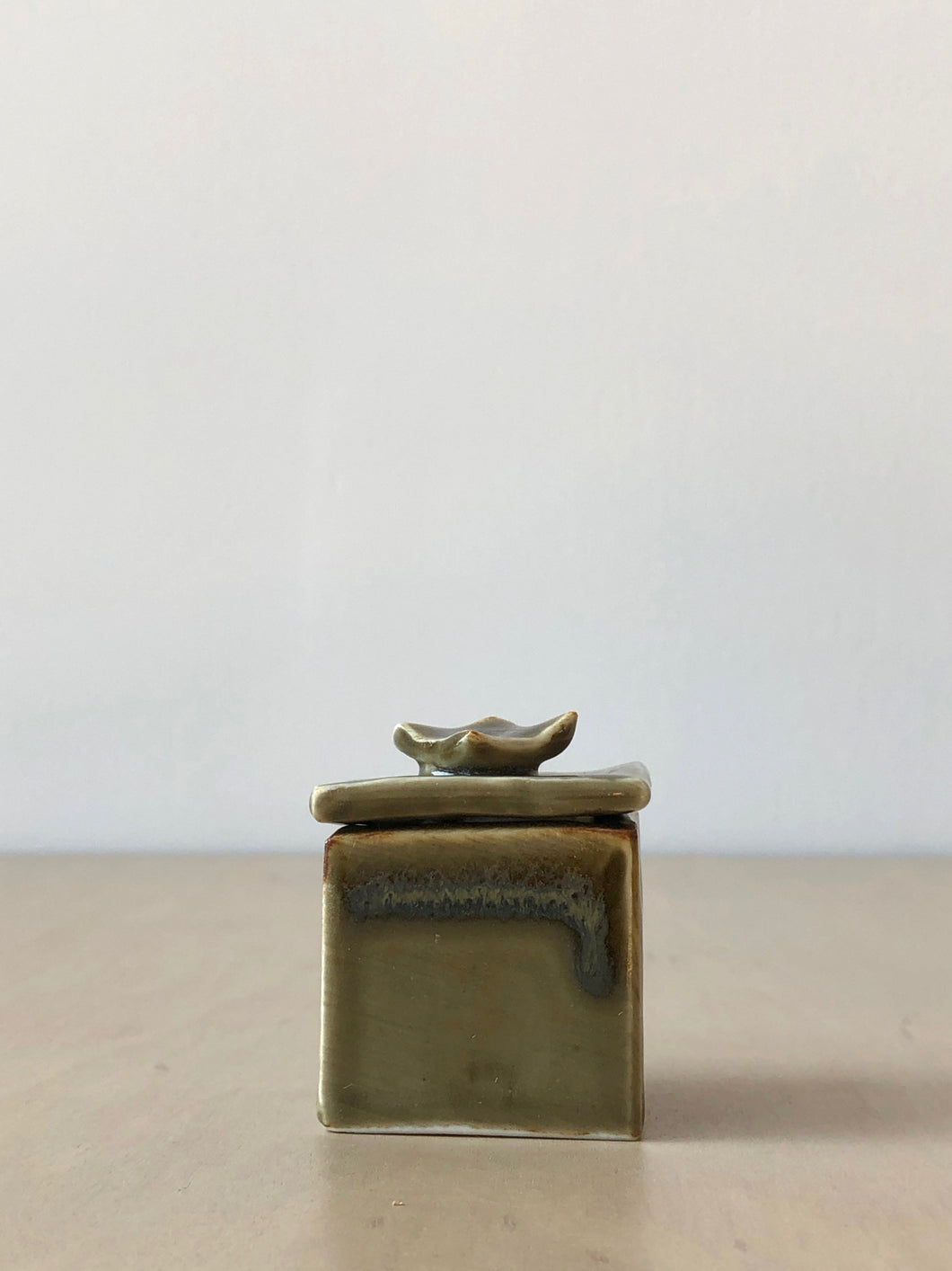 Elspeth Petite Small Olive Box