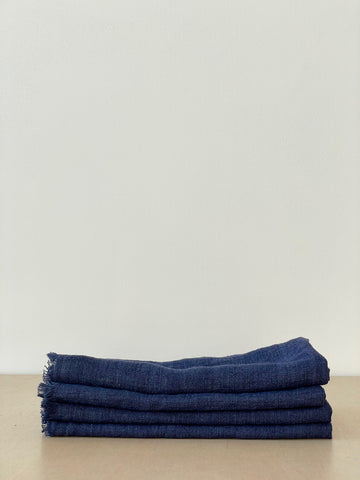 Stonewashed Linen Dinner Napkin in Navy