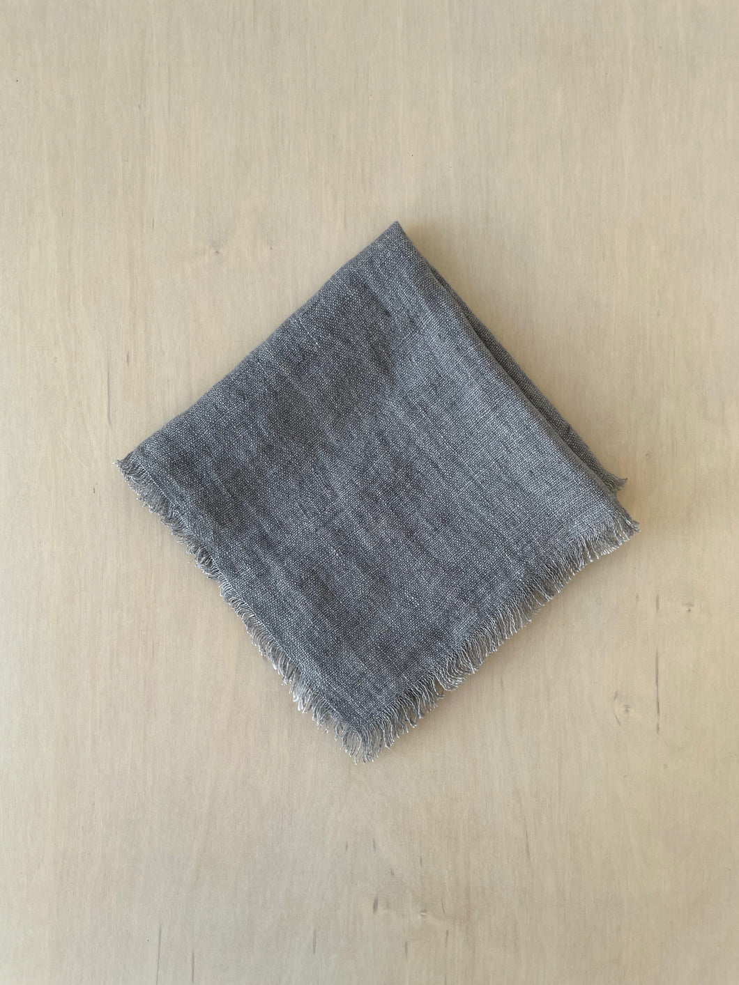 Stonewashed Linen Cocktail Napkin in Oyster