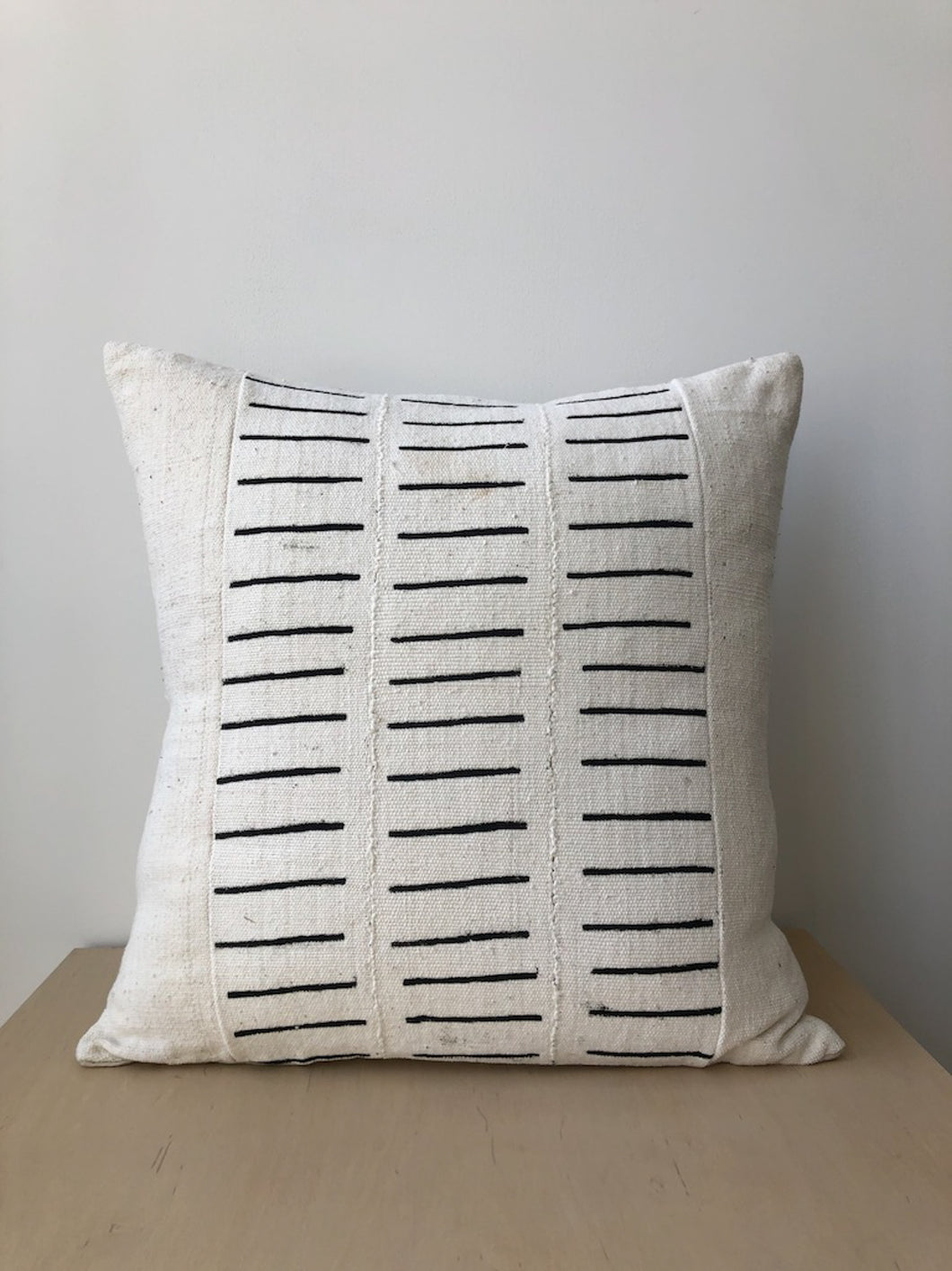 Large Cotton Pillow in Black Dash