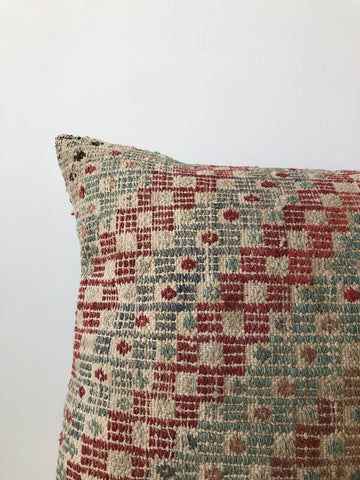 Large Kilim Pillow in Multi-Color