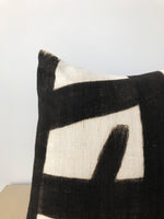 Painted Stripe Pillow in Black
