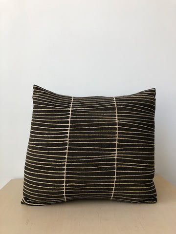 Stripe Pillow in Black