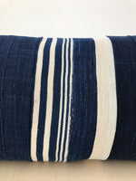 Lumbar Pillow in Indigo Stripe