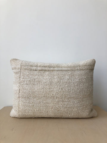 Vintage Hemp Pillow with Stripe - Small