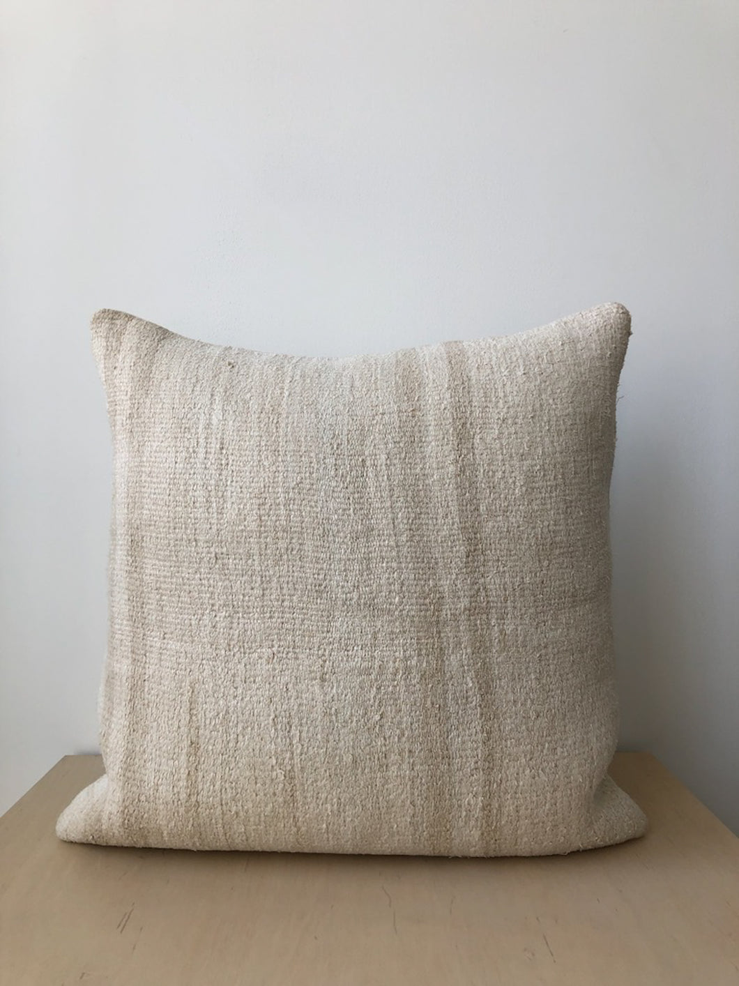 Vintage Hemp Pillow with Stripe-Large