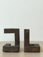Pair of Marfa Bookends in Brown