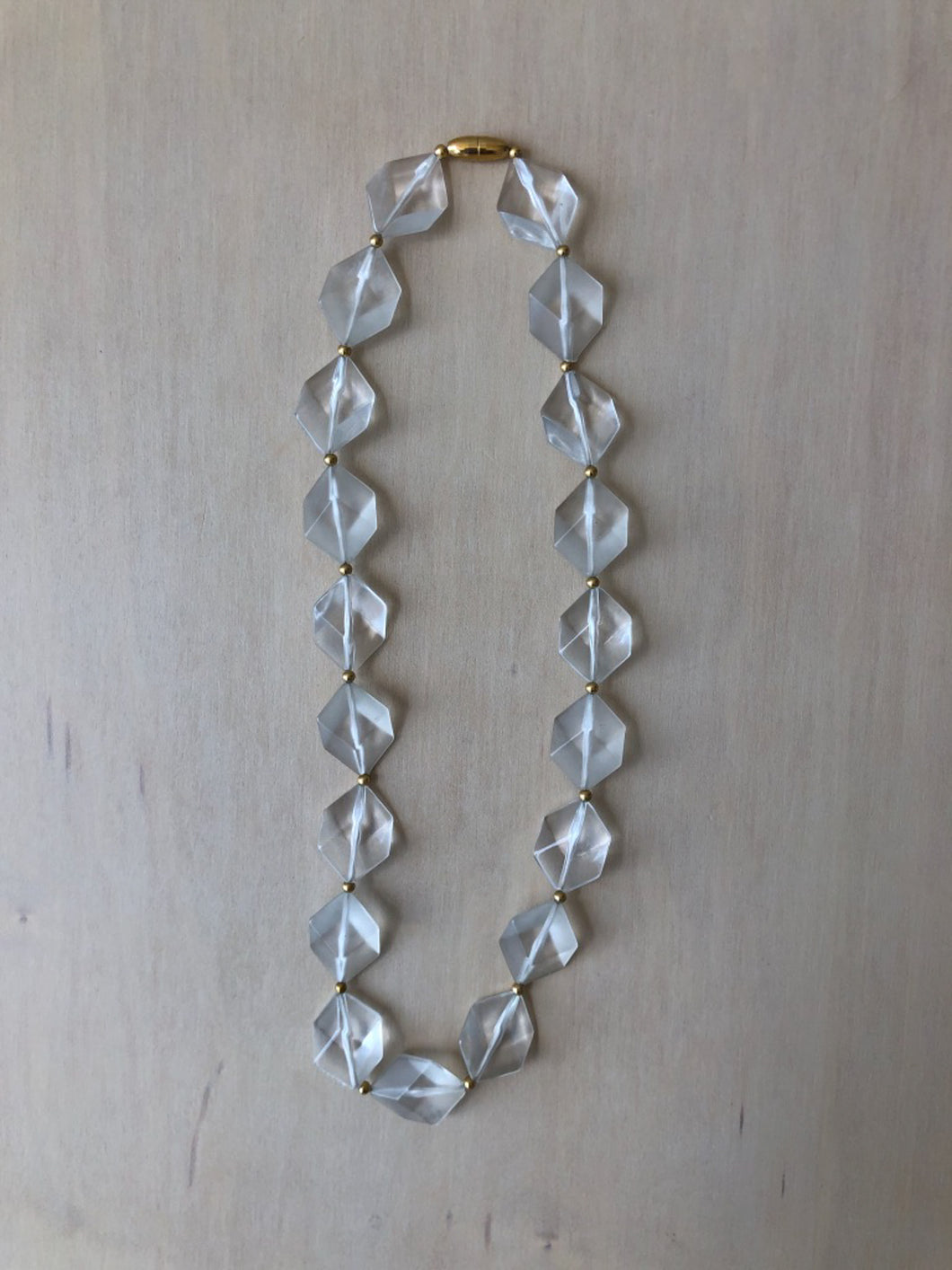 Vintage Faceted Lucite Necklace