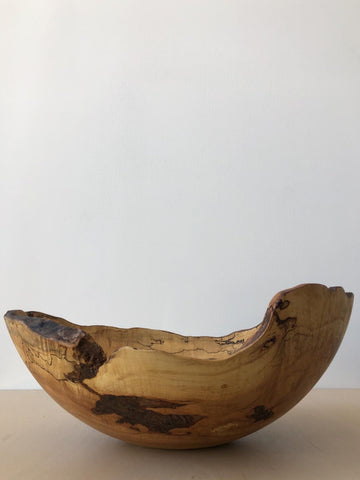 Large Spalted Maple Oval Bowl