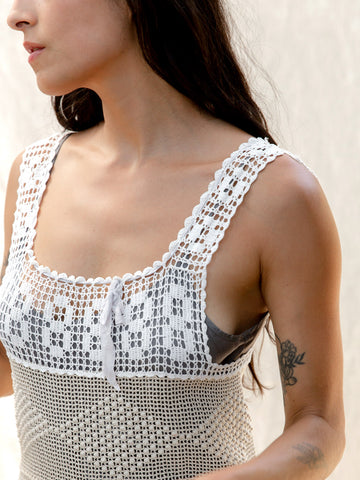 Vintage Handmade Crochet Dress