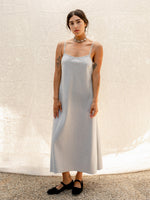 Grey Flannel Slip Dress