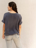 Silk Navy Top by Nou