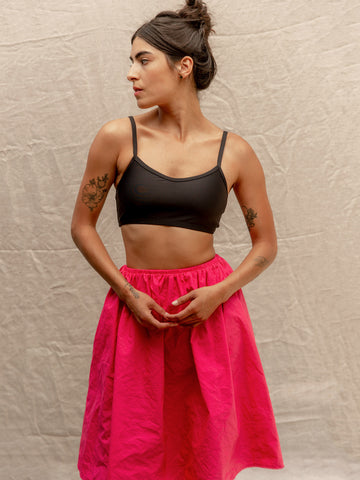 Fuchsia Taffeta Party Skirt
