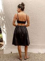 Black Taffeta Party Skirt