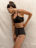 Nu Swim Liza Top Swimsuit in Black
