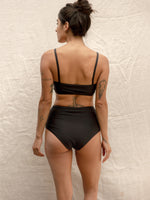 Nu Swim Basic High Bottom Swimsuit in Black