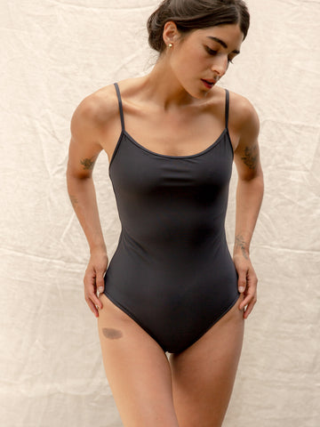 Nu Swim Navy Noodle One Piece Swimsuit