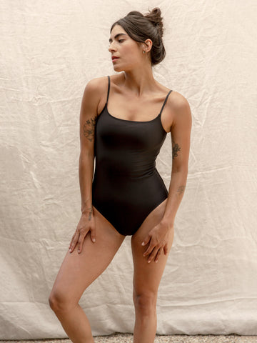 Nu Swim Lora One Piece Swimsuit in Black