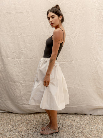 Ivory Taffeta Party Skirt