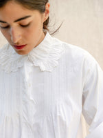 Antique Embroidered Cotton Blouse