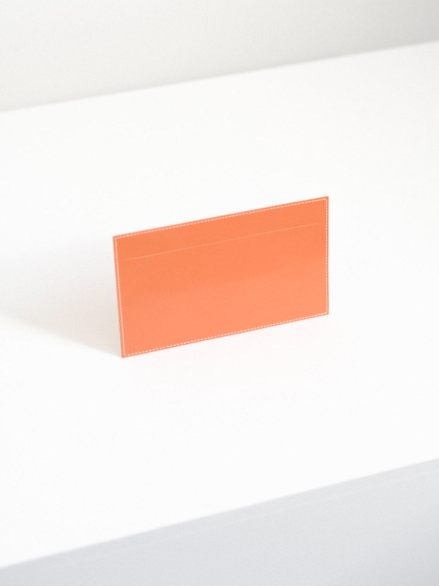 Leather Receipt Envelope in Orange
