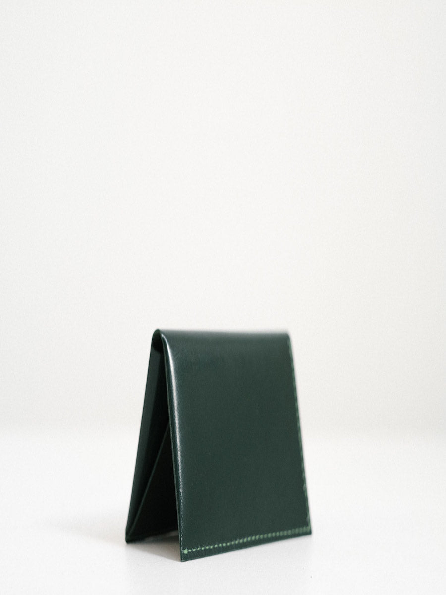 Leather Bi-Fold Wallet in Emerald Green