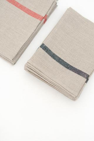 Tea Towel in Natural with Stripe Accent