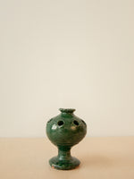 Afghan Terra Cotta Vessel with Green Glaze