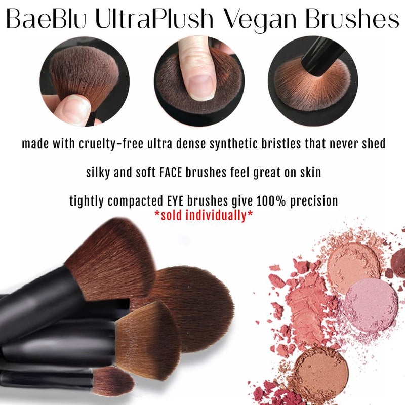 UltraPlush Professional Vegan Brush,  Pointed Eye Contour