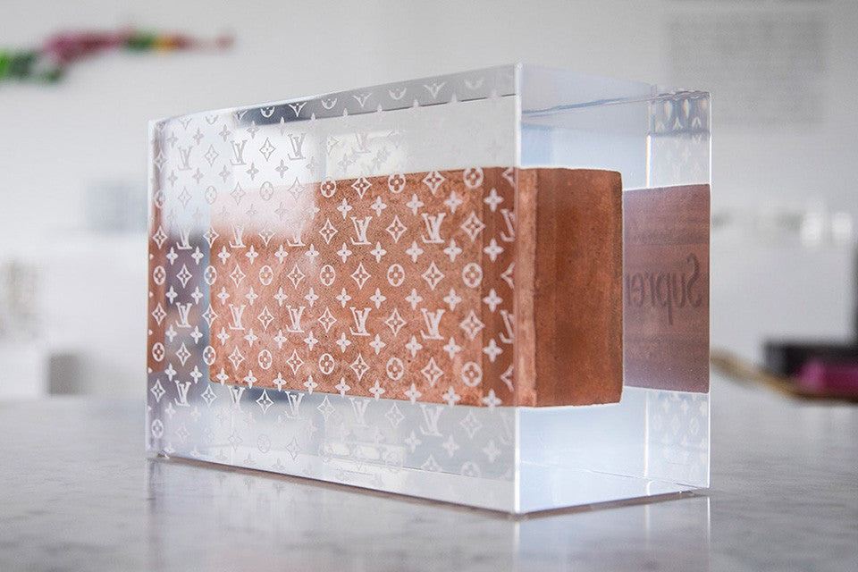 The Infamous Supreme Brick Has Been Encased In A Louis Vuitton Cube VIP APPAREL SHOP