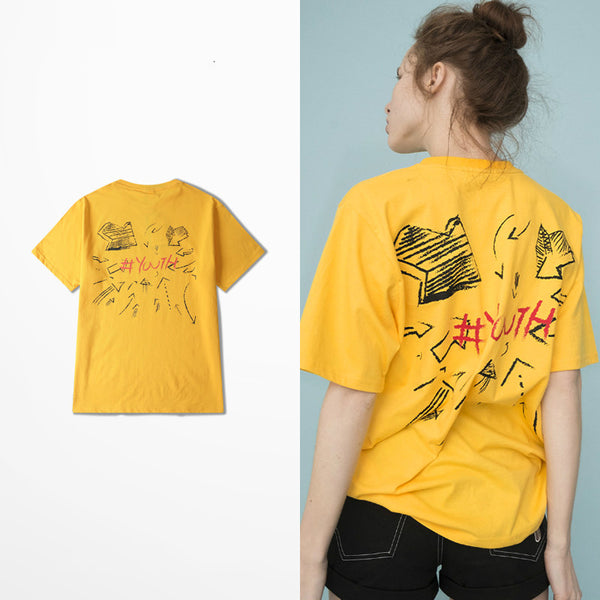 Yellow Punk Printed Tee