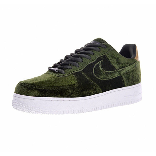 Nike AIR FORCE 1 VELVET AF Women Skateboard Shoes, Velvet Wine Red Velvet Sneaker Skateboard