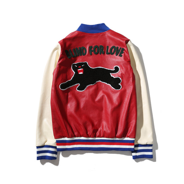 Wear Luxury Satin Embroidered Baseball Jacket