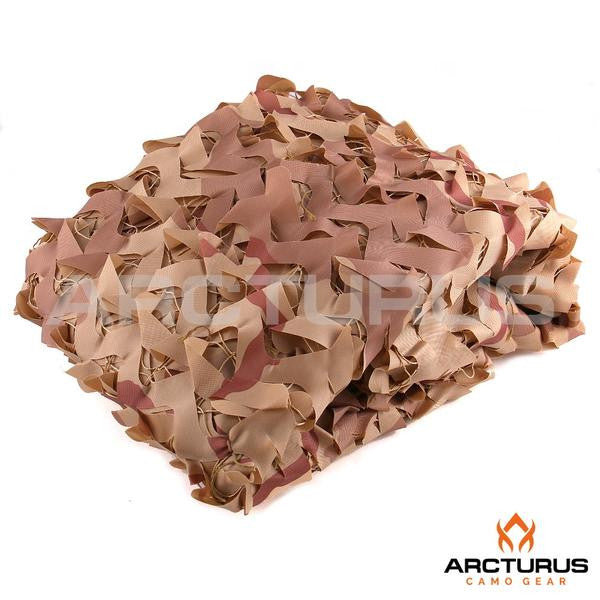 LIKE NEW - 300D Heavy Duty Arcturus Desert Camo Netting with Mesh Support Grid