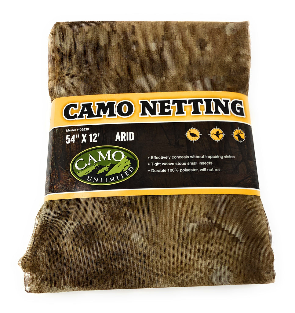 Camo Mesh Poly Net Pre-Cut Sections