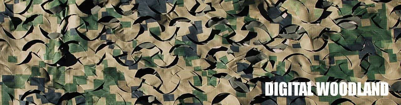 Digital Woodland Camo Netting