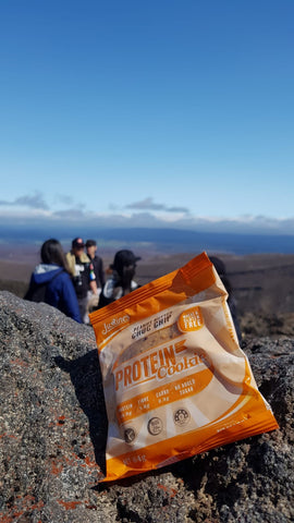 Peanut Butter Choc Chip Protein Cookie on Tongariro