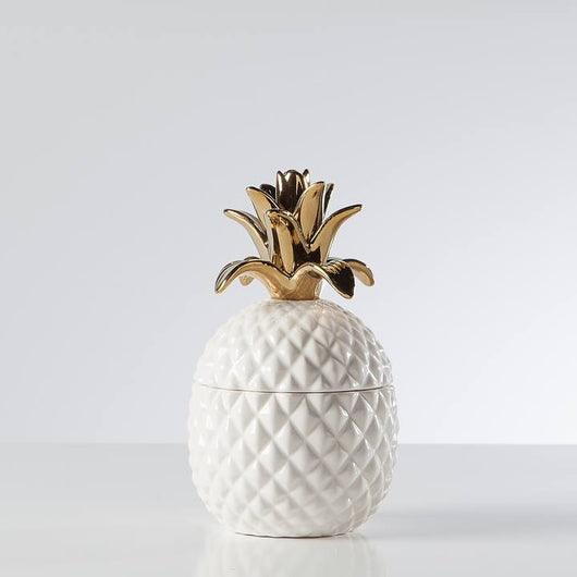 Gold/White Pineapple Canister - Small