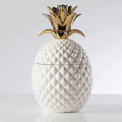 Gold/White Pineapple Canister - Large