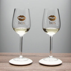 His/Hers Wine Glasses