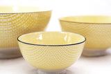 Yellow/Black Porcelain Bowl - Small 4.5""